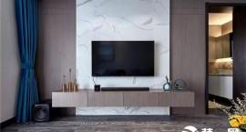 2019年用木饰面搭配瓷砖做电视墙设计