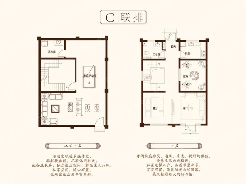 C联排-2室2厅1卫C联排-2室2厅1卫