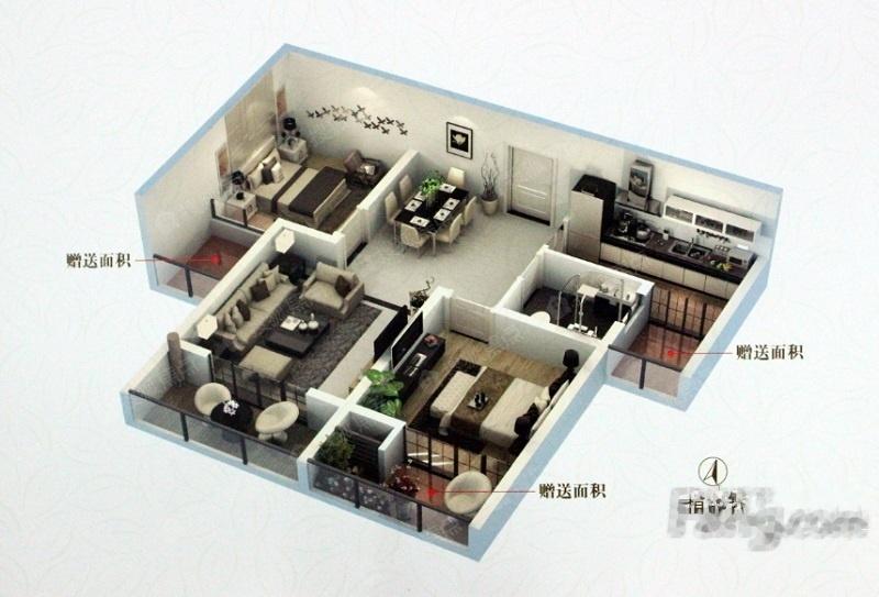 一期高层A户型-2室2厅1卫-80.0㎡一期高层A户型-2室2厅1卫-80.0㎡