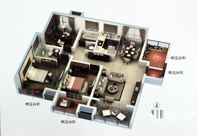 一期高层C户型-3室2厅2卫-116.7一期高层C户型-3室2厅2卫-116.7